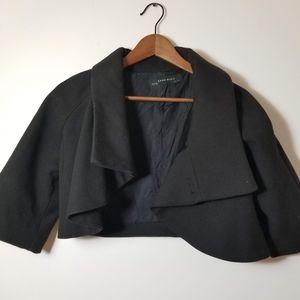 Cropped Zara Basic Black Blazer Jacket S